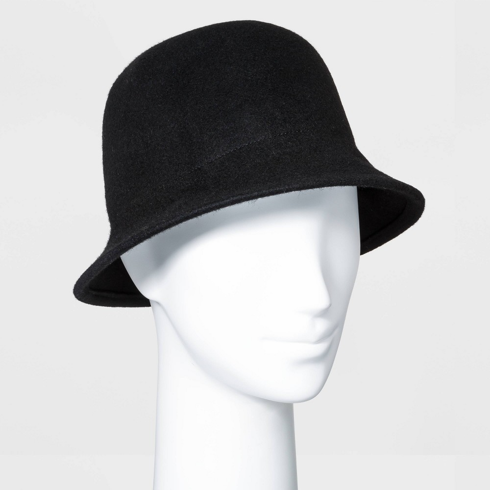 1920s Hat Styles for Women – History Beyond the Cloche Hat Womens Felt Cloche Hat - A New Day Black $20.00 AT vintagedancer.com