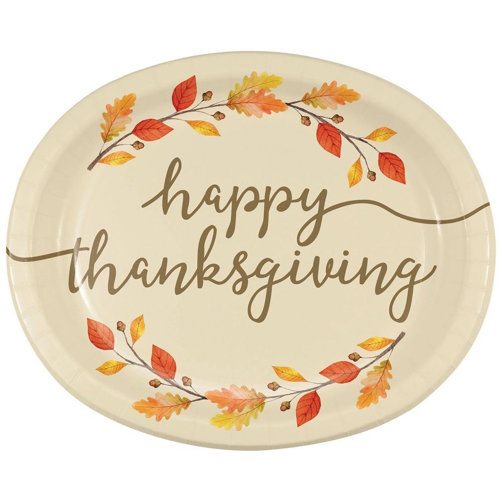 24ct Thankful Oval Plates