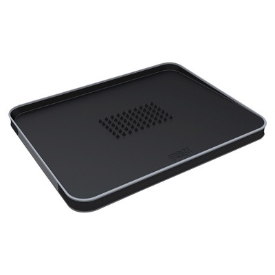 Joseph Joseph Large Cut & Carve™ Plus Multi-function Chopping Board - Black
