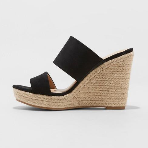 413ed5eca0b Women s Adelina Two Band Espadrille Slide Sandals - A New Day™ Black ...