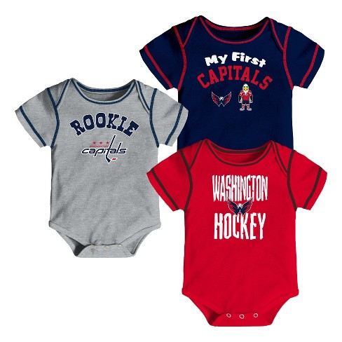 Washington Capitals Boys  Game Winner 3pk Body Suit Set 12 M   Target 2cee6861c