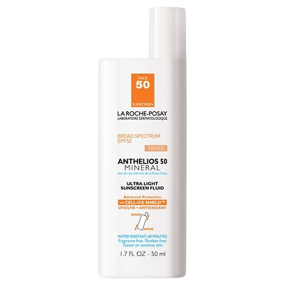 Sunscreen & Tanning: La Roche Posay Anthelios Ultra-Light Mineral Sunscreen Tinted