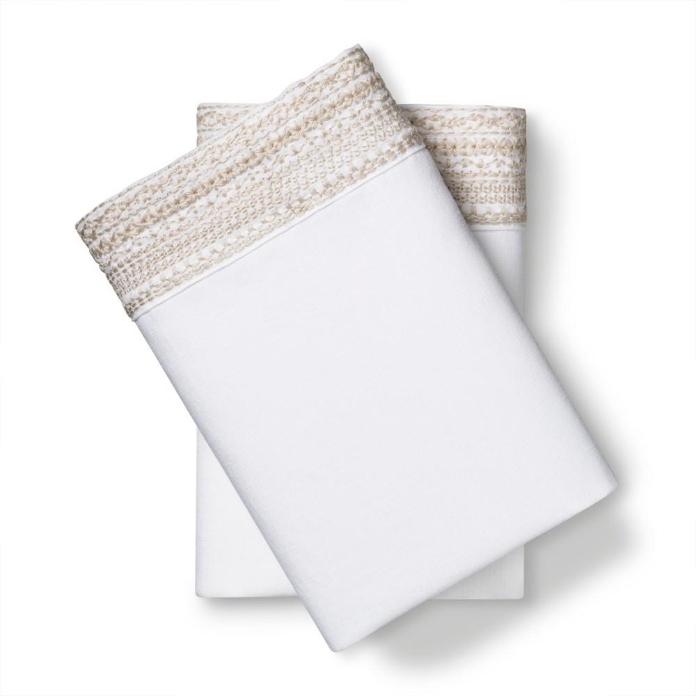 Image of 100% Linen Pillowcases (Standard) Sea Salt (Blue) - Fieldcrest
