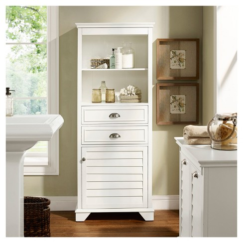 Lydia Tall Cabinet in White