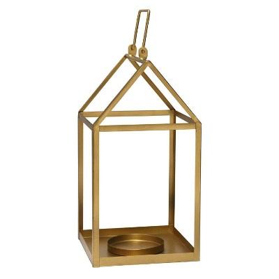 """7.5"""" x 17.25"""" Open Face Lantern Gold - Stratton Home Décor"""