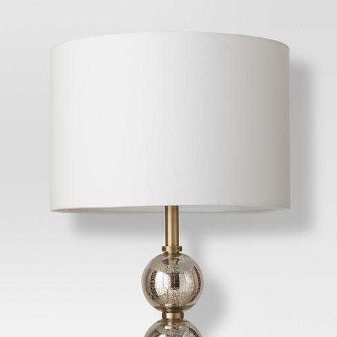 Mercury Glass Stacked Ball Floor Lamp Brass Lamp Only Threshold