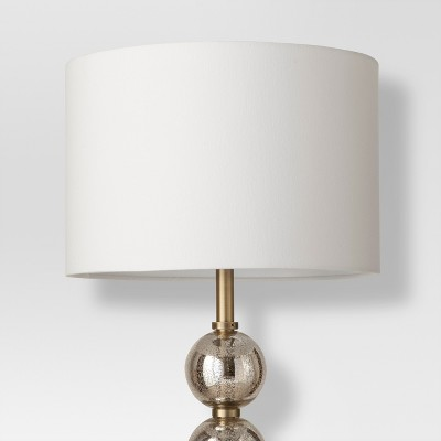 Mercury Glass Stacked Ball Floor Lamp Brass Lamp Only   Threshold™ : Target