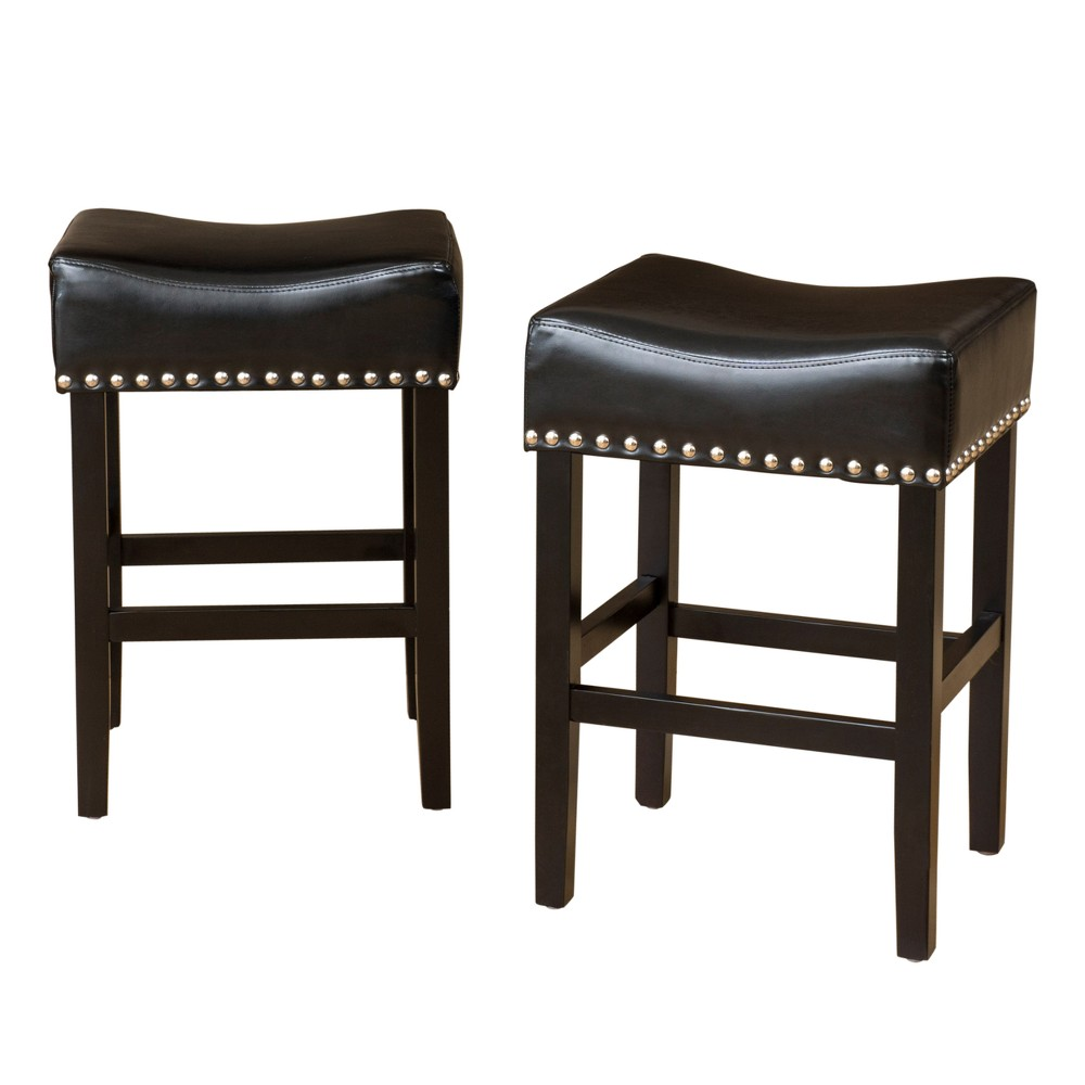 Set of 2 Laramie Backless Counter Stool Black - Christopher Knight Home was $157.99 now $102.69 (35.0% off)