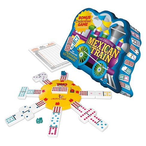 Puremco Mexican Train Double 12 Dot Dominoes Game - image 1 of 1