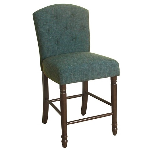 "Delilah Button Tufted Counter Stool - 24""- HomePop - image 1 of 3"