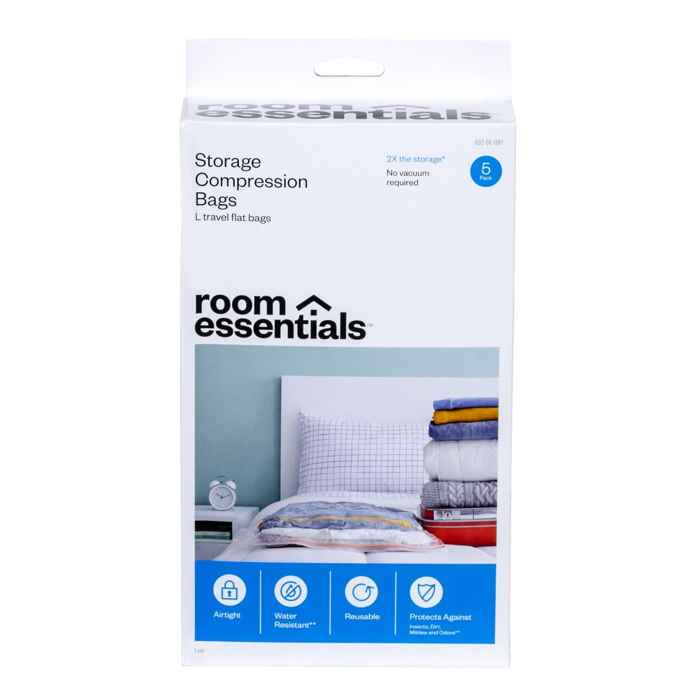 Compression Bags 5 Large Travel Clear - Room Essentials