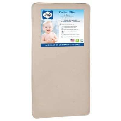 Sealy Cotton Bliss 2-Stage Crib And Toddler Mattress