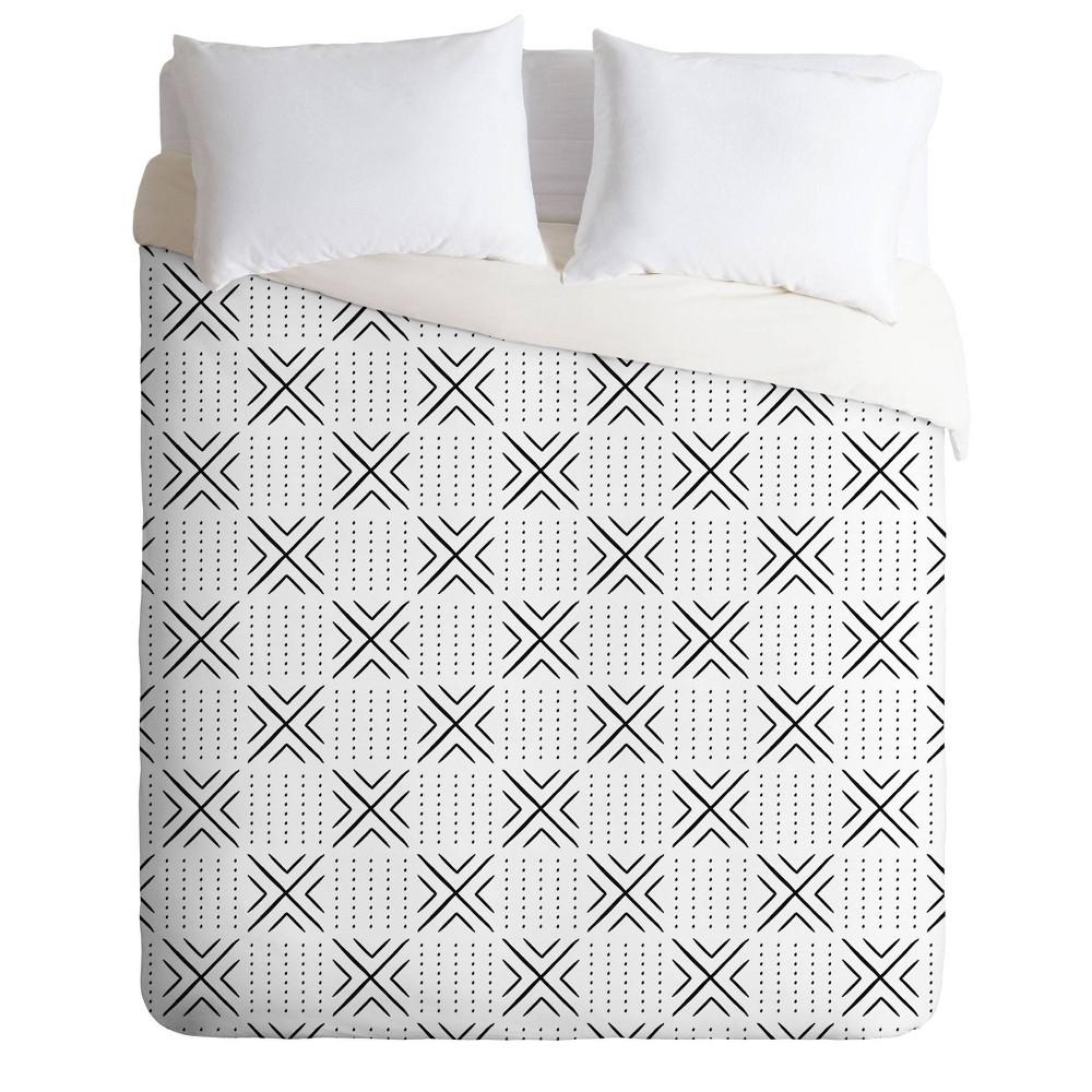 Compare Queen/Full Little Arrow Design Co Mud Cloth Tile Comforter Set  - Deny Designs
