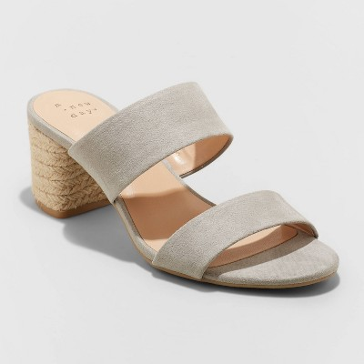 Women's Patricia Espadrille Block Heeled Pumps - A New Day™