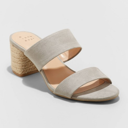 Women's Patricia Espadrille Block Heeled Pumps - A New Day™ - image 1 of 4