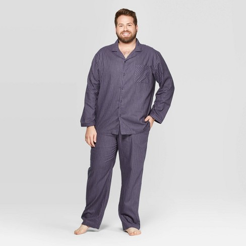 Men's Big & Tall Striped Woven Pajama Set - Goodfellow & Co™ Geneva Blue - image 1 of 2