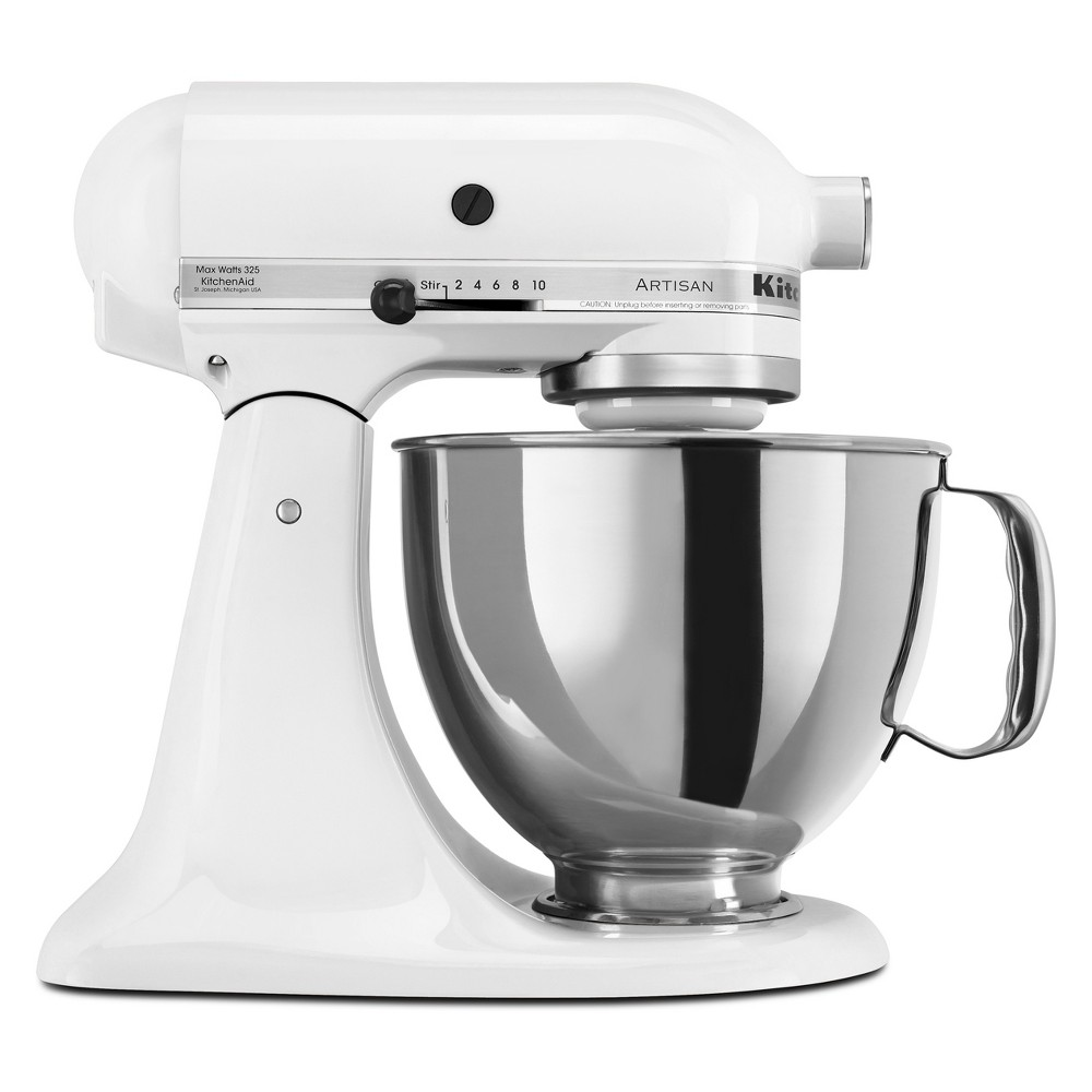 KitchenAid Refurbished Artisan Series Stand Mixer – White RRK150WH 53570916