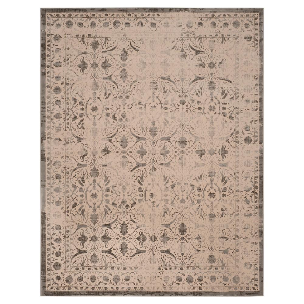 Cream/Gray (Ivory/Gray) Abstract Loomed Area Rug - (8'X10') - Safavieh