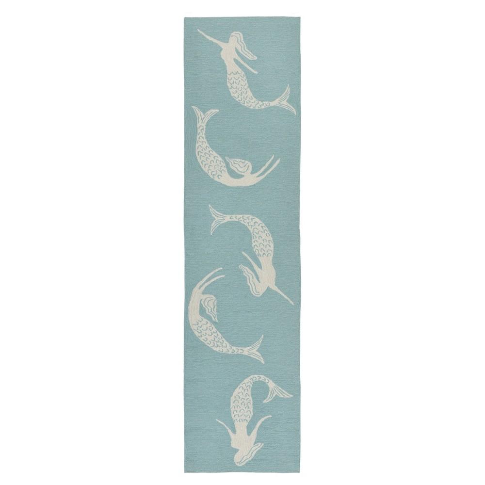 Blue Mermaid Tufted Runner 2'X6' - Liora Manne
