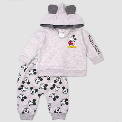 Disney Newborn Infant Boys or Girls Mickey Mouse 2PC Hoodie Pants Set