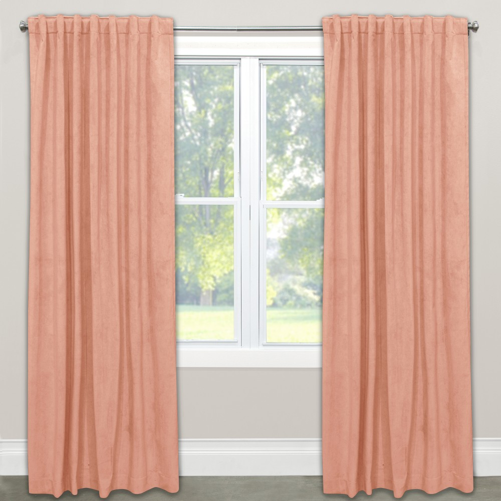 Unlined Curtain Titan Pink Champagne 120L - Skyline Furniture