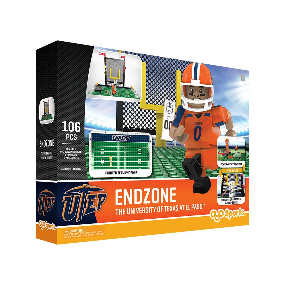 Utep Miners Football Toy Set