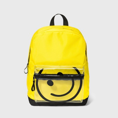Kids' Smiley Face Backpack - art class™ Yellow