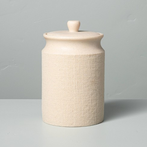 Resin Bath Canister Cream - Hearth & Hand™ with Magnolia - image 1 of 4