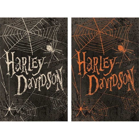 Harley Davidson Halloween Spider Suede House Flag, 29 x 43 inches - image 1 of 1