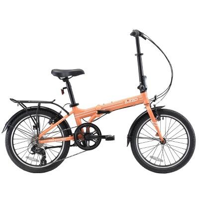 """ZiZZO Forte Duty 7-Speed 20"""" Folding Bike - Coral"""