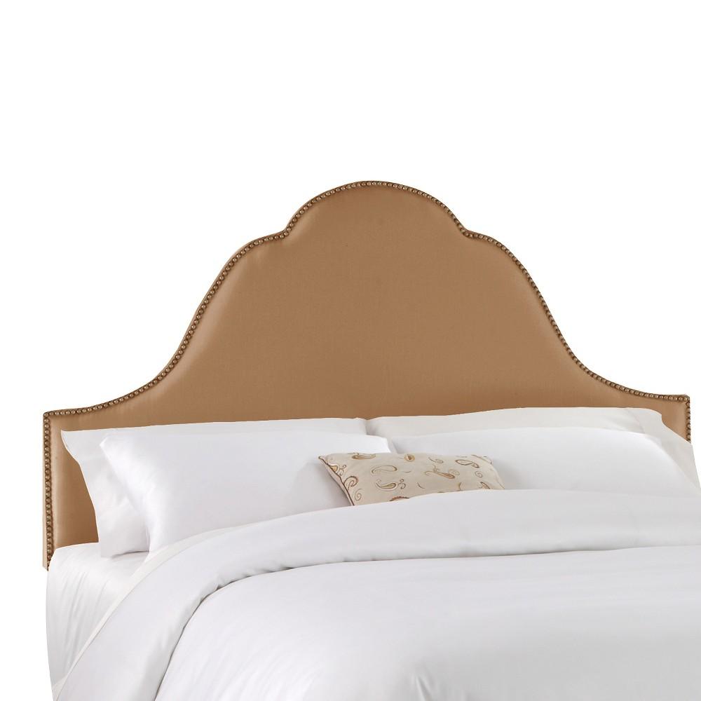 Arch Nail Button Headboard - Khaki (Green) - California King - Skyline Furniture
