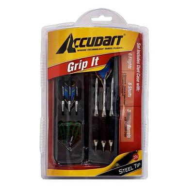 Accudart Grip-It Steel Tip Dart Set