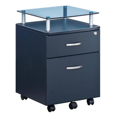 Rolling and Locking File Cabinet Gray - Techni Mobili