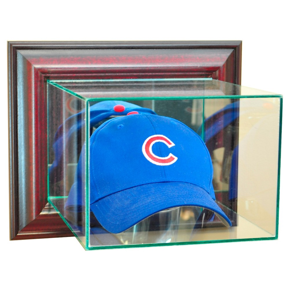 Perfect Cases Wall Mounted Cap And Hat Display Case Cherry Finish