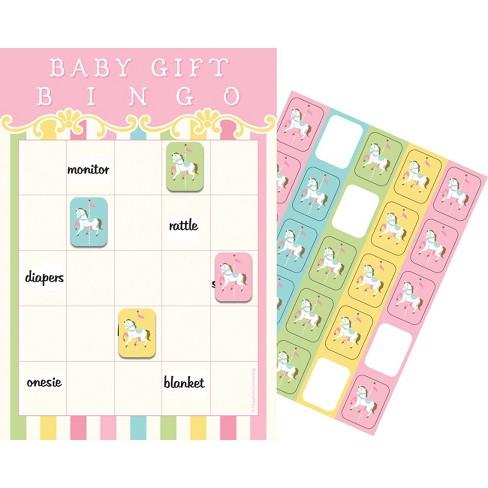 10ct Creative Converting Carousel Baby Shower Bingo Target