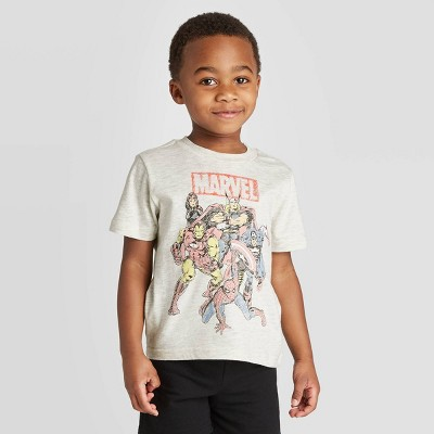Toddler Boys' Marvel T-Shirt - Heather Oatmeal