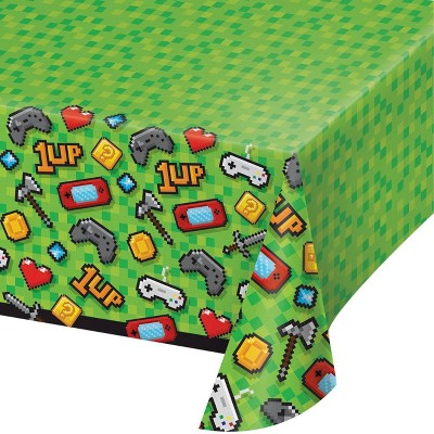 Video Game Plastic Party Tablecloth