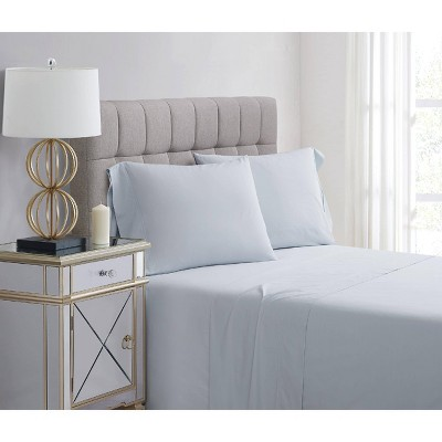 Standard 400 Thread Count Solid Percale Pillowcase Set Illusion Blue - Charisma