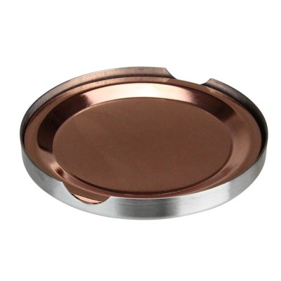 """Northlight Set of 4 Stainless Steel Copper Finish Tabletop Coasters - 3.75"""""""