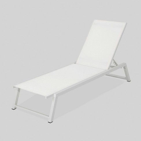 Myers Aluminum Outdoor Patio Chaise Lounge - White - Christopher Knight Home - image 1 of 6