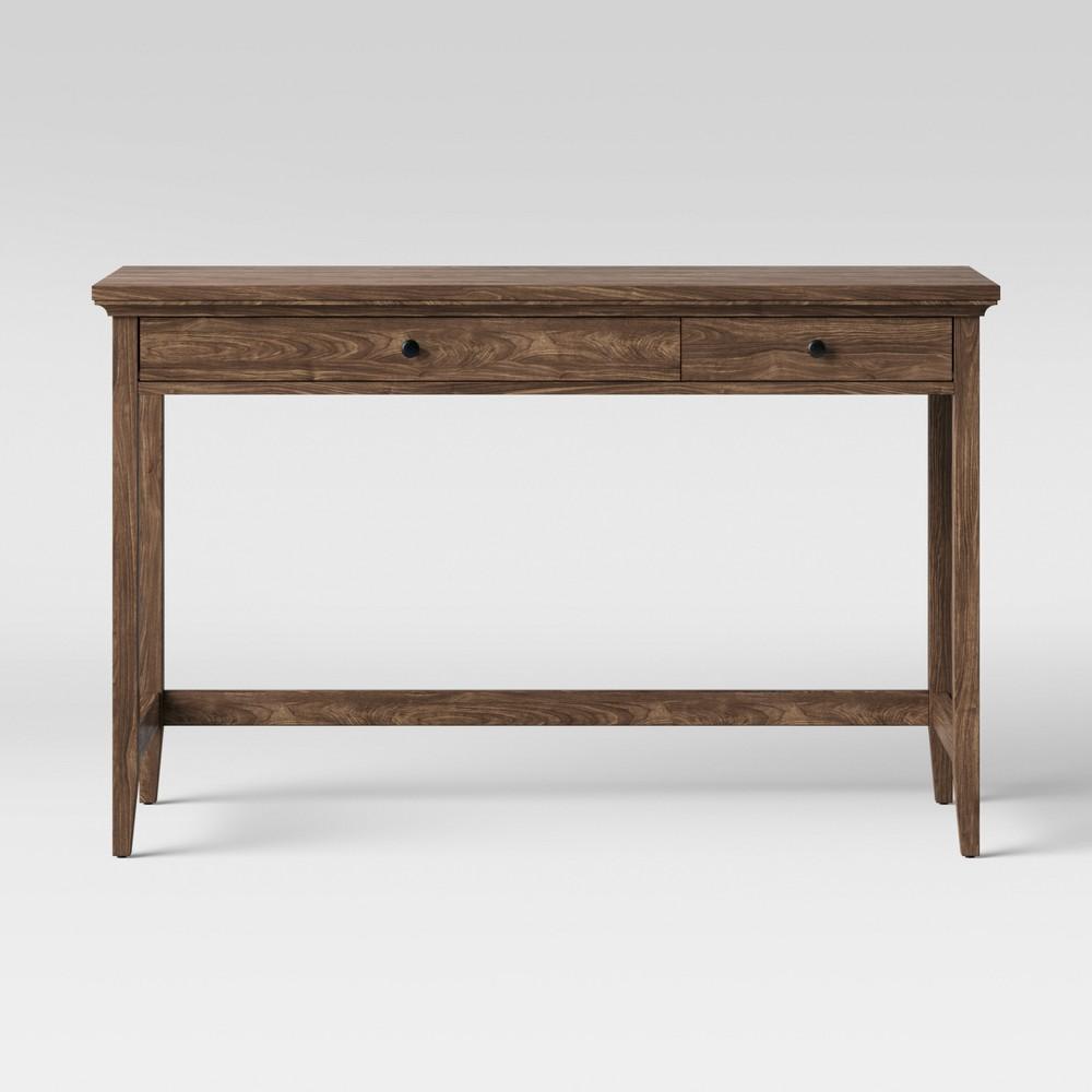 Carson Writing Desk Walnut Brown - Threshold