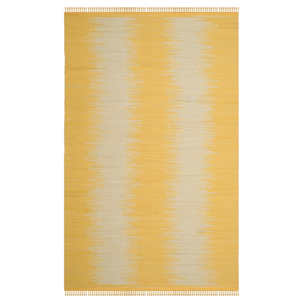 Gold Geometric Flatweave Woven Area Rug 6'X9' - Safavieh