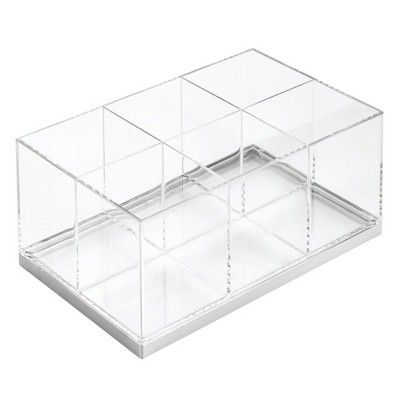 mDesign Plastic Makeup Storage Organizer with 6 Sections