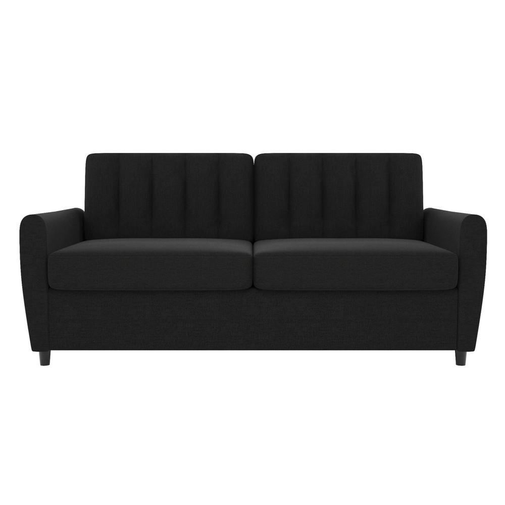 Image of Queen Brittany Sleeper Sofa with Memory Foam Mattress Dark Gray - Novogratz