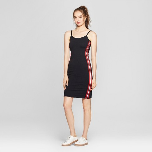 8523837a Women's Side Taping Midi Dress - Almost Famous (Juniors') Black