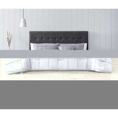 King 5pc Box Pinch Pleat Comforter Set Gray - Geneva Home Fashion
