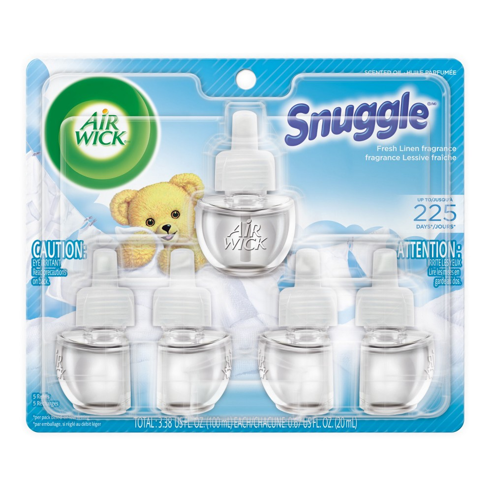 Image of Air Wick Scented Oil Refills-Snuggle Fresh Linen 5ct