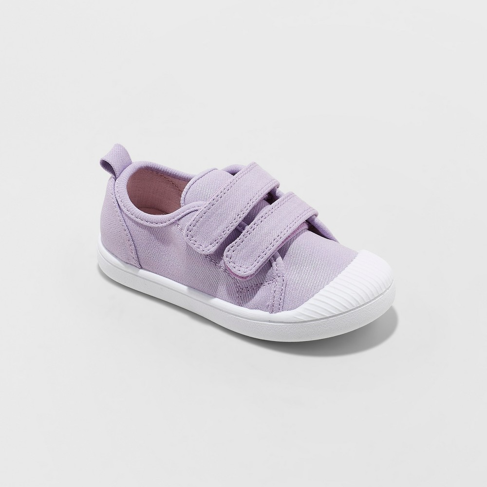 Toddler Girls' Madge Adjustable East Close Sneakers - Cat & Jack Purple 5