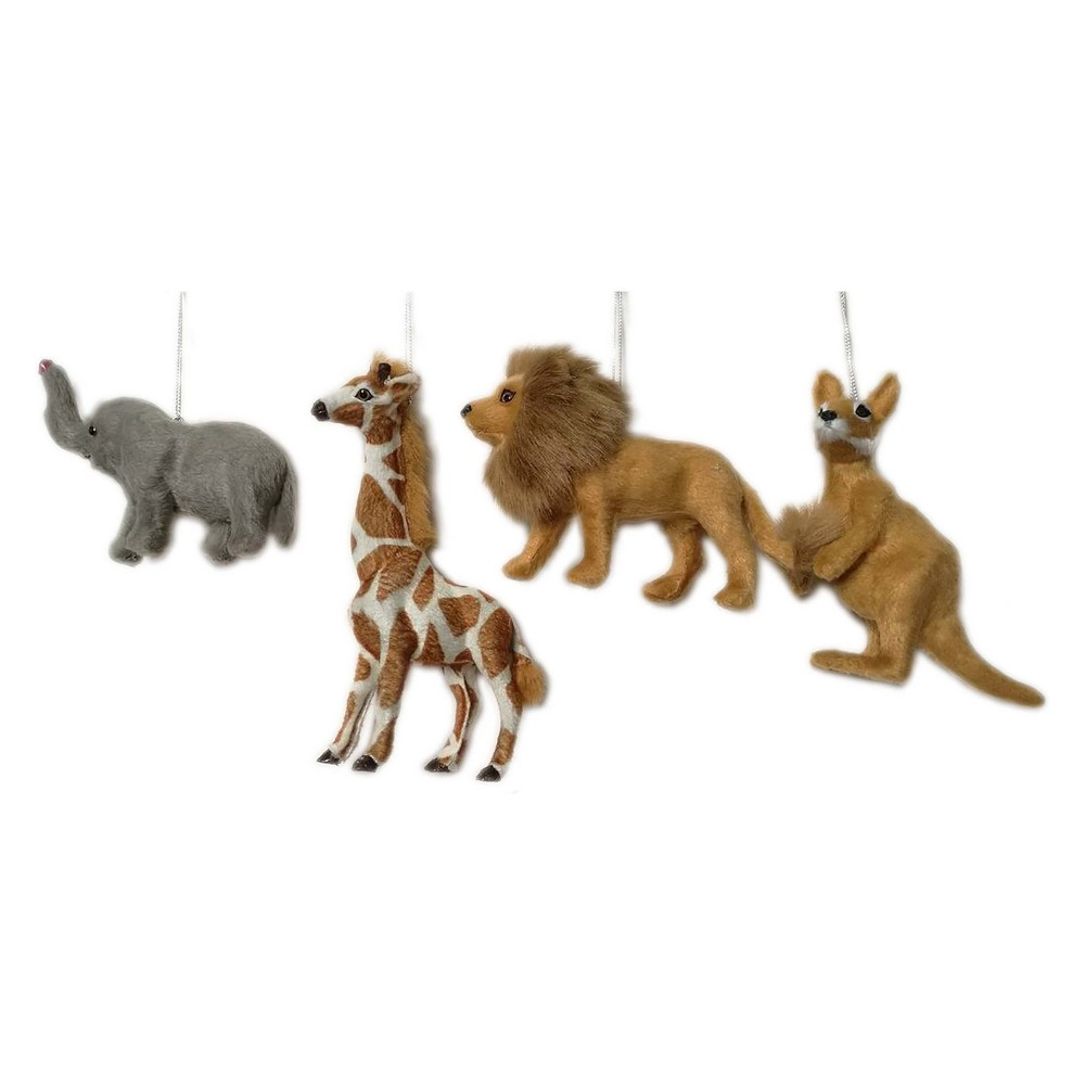 4ct Enchanted Eve Faux Fur Safari Animals - Wondershop