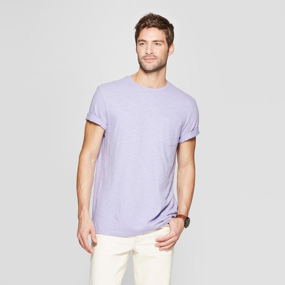 Men's Standard Fit Short Sleeve Crew T-Shirt - Goodfellow & Co Restful Plum S
